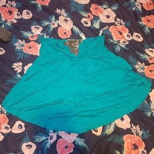 Tube Top Nwt Teal Beaded Top blouse  Large